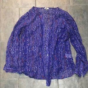 Silk Joie Blouse Size Large